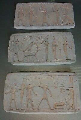 3 new latex moulds,soap, candle,garden ornaments, Egyptian plaque 16.5x8.5cm