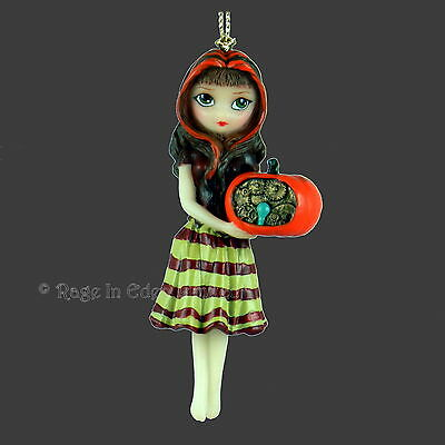 A CLOCKWORK PUMPKIN Strangeling Steampunk Fairy Figurine Jasmine Becket-Griffith