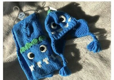 BNWT Mothercare Boys Hat And Scarf Set 12-18, 18-24, 2-3 Years