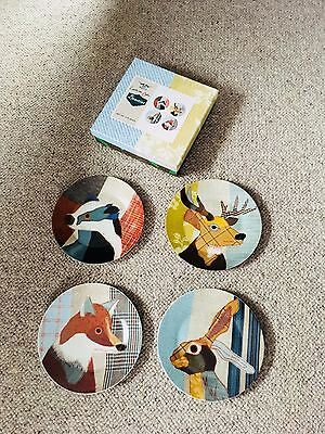 Set Of Animal Print Decorative Plates By Magpie