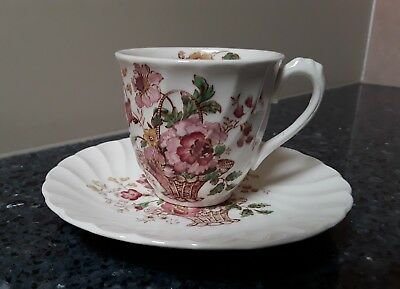 Royal Staffordshire Chelsea Rose Cup & Saucer Set  Made in England