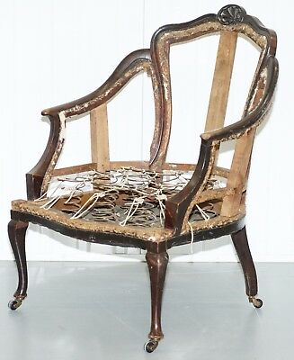 Victorian French Armchair For Restoration And Reupholstery Coil Sprung Base