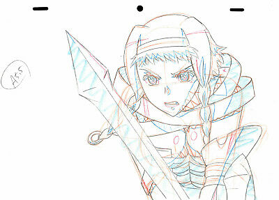 SALE! Anime Genga Not Cel: Queen's Blade #301 (Set of 1 Production Sketch)