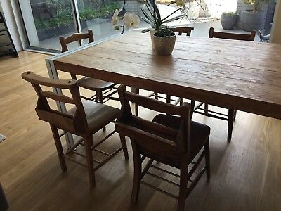 5 Vintage Church Chairs From England - Richmond Pick Up