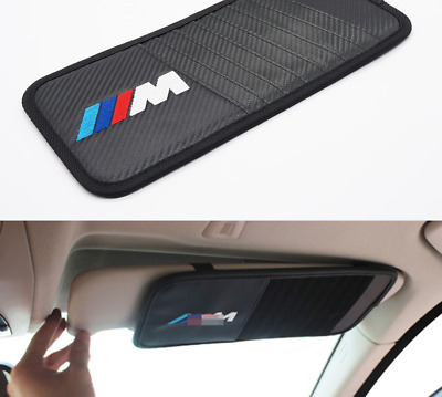 BMW M Sport Car CD storage Visor Interior Car Accessories Black 1pcs Card