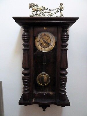 Antique Vienna Clock Working And Chiming