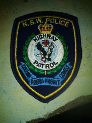NSW Police Force Highway Patrol genuine patch obsolete defunct