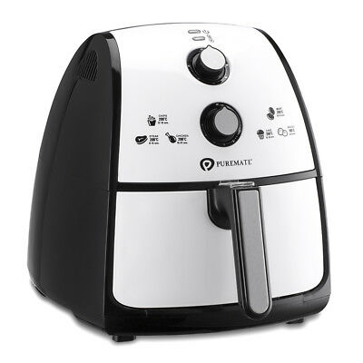 PureMate® 4 Litre Air Fryer Cooker Oven Low Fat Oil Free Healthy Air Fryer 1500W