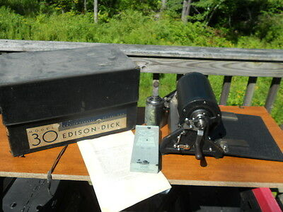 a-b dick company Edison Dick Mimeograph Model 30  Antique