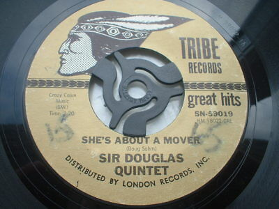Sir Douglas Quintet She's About A Mover Styrene Press In Ex Condition