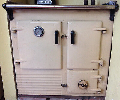 Lovely original Cream Rayburn No1 Left Hand Oven Solid Fuel wood, Circa 1948