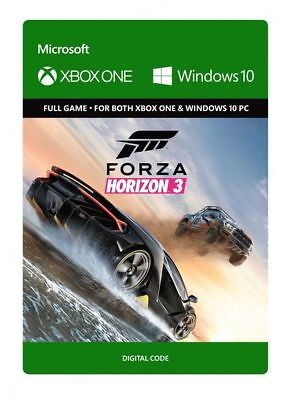 Forza Horizon 3 Digital Download Code For Both Xbox One and Windows 10 PC