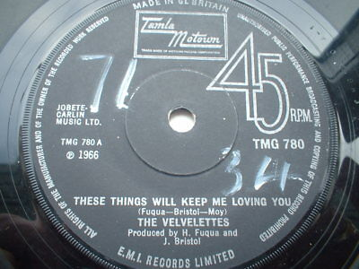 Velvelettes These Things Will Keep Me Loving You Tamla Vg+++ Condition