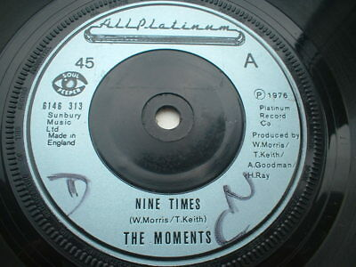 The Moments Nine Times Modern Soul Cracking Tune In Ex Condition