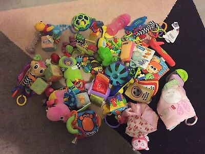 Big bulk lot baby toys rattles Lamaze Fisher Price Disney Nuby