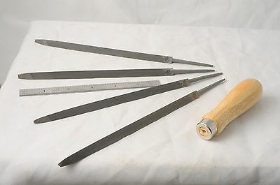 """4 New Tapersaw extra slim 7"""" file hand saw filing 4-7 tpi Xslim Handle"""