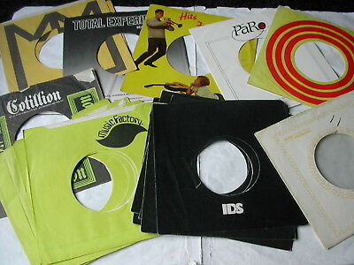 Job Lot Of Record Label Bags - Obscure And Rare Label Bags 70 - See List / Scans