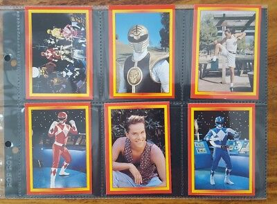 Power Rangers Set Of 128 Collector Cards 1995 Merlin