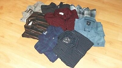 Fashionable Branded Men's Clothing Mixed Shirt Bundle (Size Small) YSL ,BURTONS