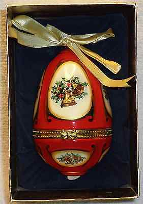 2006 Mr. Christmas decorated egg shaped Christmas ornament musical - (bells)
