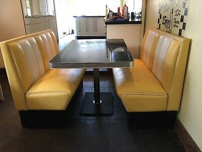 American Diner Booth Yellow Used