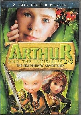 ARTHUR AND THE INVISIBLES 2 & 3 New Minimoy Adv. + THE SECRET OF NIMH 1 & 2 DVDs