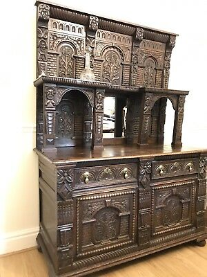 17th Century Oak Carved Sideboard