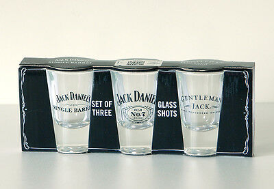 Jack Daniel's Set Of Three Shot Glasses Officially Licensed