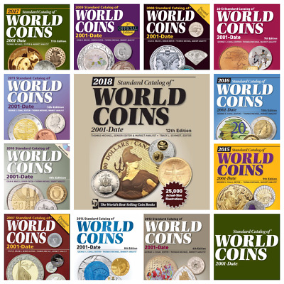 2018 KRAUSE World COINS 21st Century - All Editions - 12 Digital PDF Catalogs