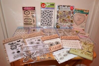 Large Bundle of Assorted Clear Stamps for Card Making or Scrapbooking x 17 packs