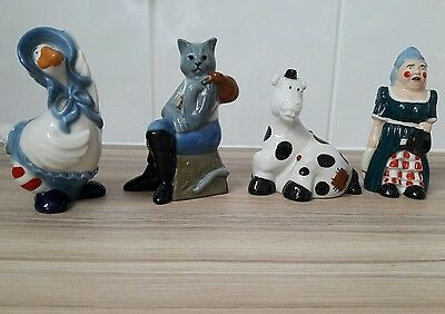Wade Pantomine Set 1997. Includes Cat, Horse, Goose and Dame