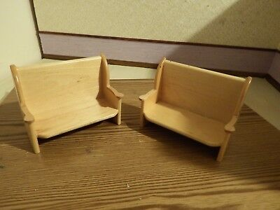 doll house furniture 2x pine long kitchen settles 1.12th