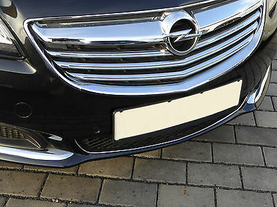 Chromstrebe für Opel Insignia A Facelift 06/13 bis 04/17 Chrom Tuning Stoßstange
