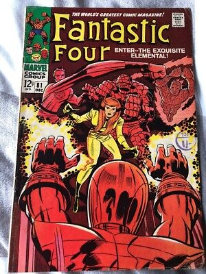 Fantastic Four # 81  ...Enter The Exquisite Elemental !  scarce hot book !!