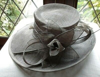 Beautiful silvery grey ladies wedding/races/occasion hat by 'Roman Originals'