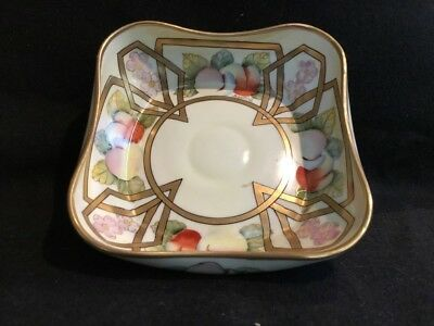 Old PICKARD Studio Hand Painted China Porcelain Bowl Signed By Artist