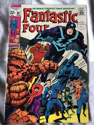 Fantastic Four # 82  ..Mark Of The Madman!  scarce hot book !!