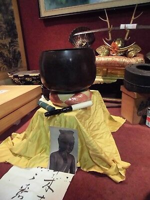 Japanese Temple Bell Bronze Buddhist  Check Out The Video
