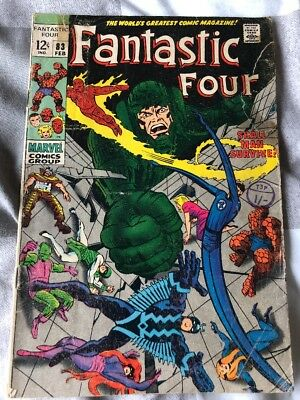Fantastic Four # 83 Shall Man Survive ... scarce hot book !!