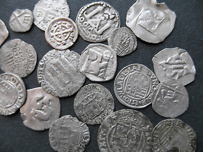 Lot Of 20 Pcs Medieval Silver Coins From 12-16Th Century #q12