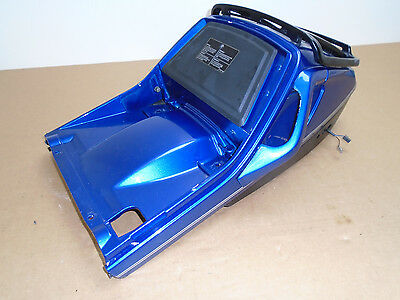 BMW K100LT 1990 25,177 miles blue rear seat moulding cowling with rack