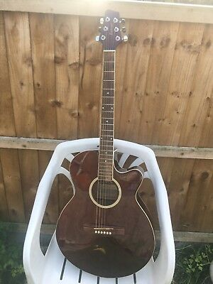 Electro acoustic East coast guitar with Dean guitars hard case