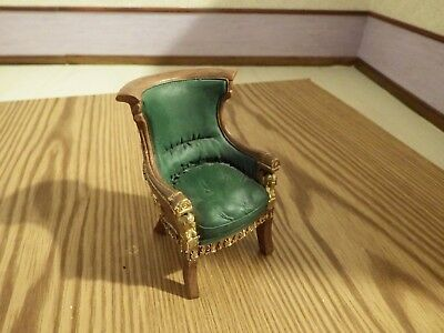 doll house furniture resin ornate libary chair 1.12th