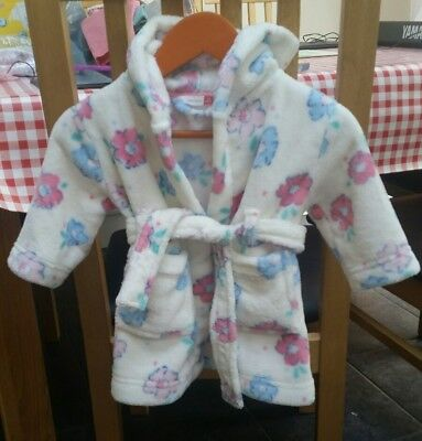 john lewis baby girls dressing gown 3-6 months