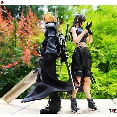 Play Arts Kai Cloud and Tifa! Advent Children *AUTHENTIC*