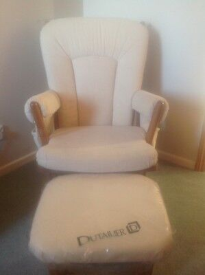 Dutailier Nursing Chair with matching footstool.