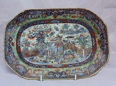 18th Century Chinese Clobbered Meat Dish Qianlong