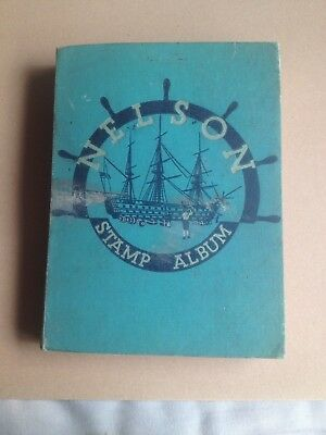 nelson stamp album 1950's more than 1000 stamps