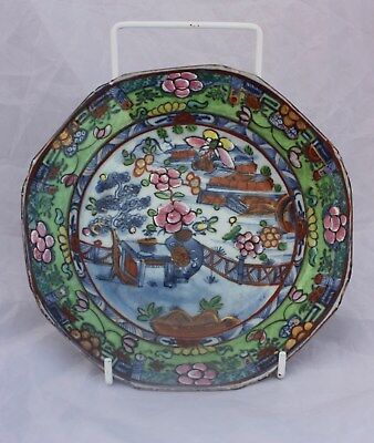 Early 18th Century Chinese Clobbered Dish Kangxi