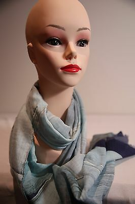 ARCHIVIO MANTERO stripe scarf shades of blue in colour new without tag
